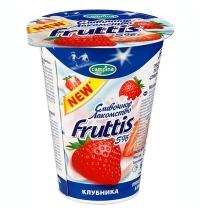 Йогурт Fruttis Сливочное лакомство клубника 5%, 320г