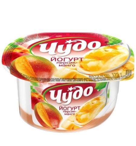 фото: Йогурт Чудо джем-персик-манго 2.5%, 125г