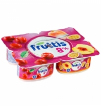 Йогурт Fruttis Суперэкстра вишня-персик-маракуйя 8%, 115г