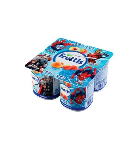 фото: Йогурт Fruttis Marvel персик-клубника 2.5%, 110 г