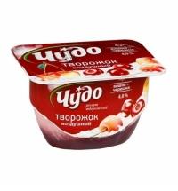 Творожок Чудо Воздушный творожный десерт вишня-черешня 4%, 100г