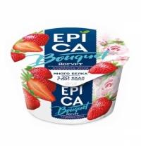 Йогурт Epica Bouquet клубника и роза 4.8%, 130г