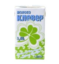 Молоко Клевер 1.5% 1л, ультрапастеризованное