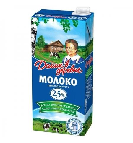 фото: Молоко Домик В Деревне 2.5% 950г, ультрапастеризованное
