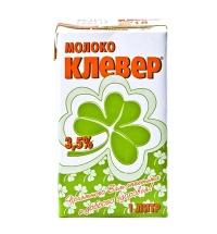 Молоко Клевер 3.5% 1л, ультрапастеризованное