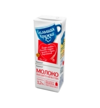 Молоко Большая Кружка 3.2% 0.2л, ультрапастеризованное