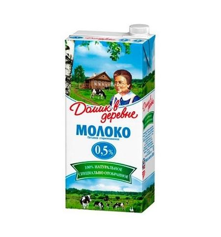 фото: Молоко Домик В Деревне 0.5% 950г, ультрапастеризованное