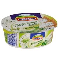 Сыр творожный Hochland с зеленью 60%, 140г