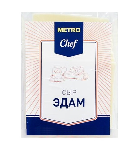 фото: Сыр в нарезке Metro Chef Эдам 40% 500г