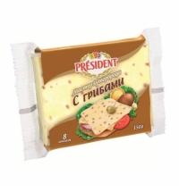 Сыр плавленый President Мастер Бутерброда 40% 150г, с грибами