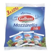 Сыр мягкий Galbani Mozzarella Tris 45% 425г