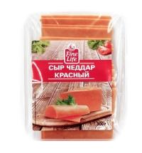 Сыр в нарезке Fine Life Чеддер красный 50% 300г