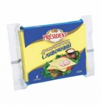 Сыр плавленый President Мастер Бутерброда 40% 150г, сливочный