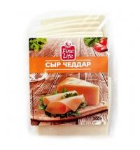 Сыр в нарезке Fine Life Чеддер 50% 300г