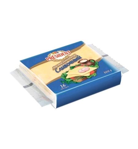 фото: Сыр плавленый President Мастер Бутерброда 45% 300г, сливочный