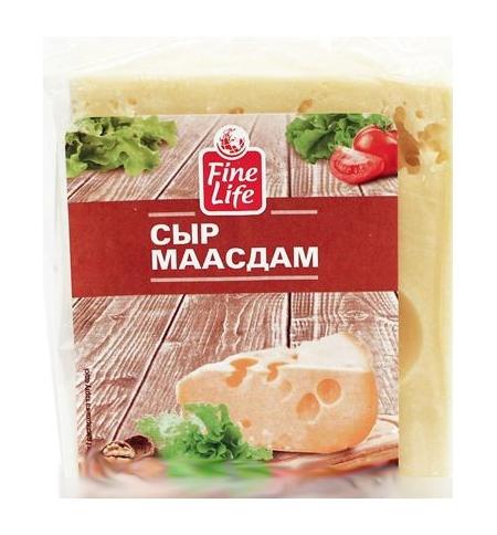 фото: Сыр твердый Fine Life Маасдам 45% 500г