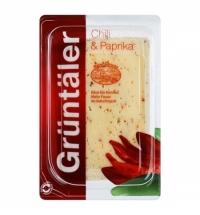 Сыр в нарезке Gruntaler с чили и паприкой 50% 250г