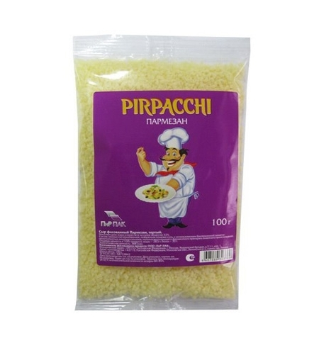 фото: Сыр тертый Pirpacchi Пармезан 38% 100г