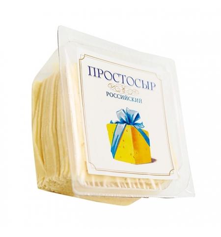 фото: Сыр в нарезке Простосыр Российский 50% 450г