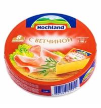 Сыр плавленый Hochland сливочный-грибы-огурец 55% 140г
