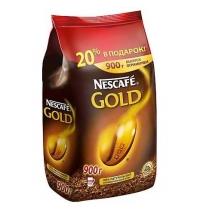 Кофе растворимый Nescafe Gold 900г пакет