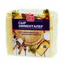 Сыр твердый Fine Life Эмменталер 45% 500г