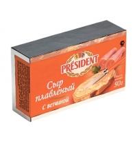 Сыр плавленый President с грибами 35% 50г