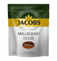 Кофе растворимый Jacobs Monarch Millicano 150г пакет
