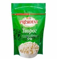 Творог President 9% рассыпчатый, 900г