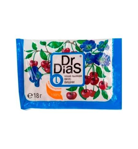 фото: Каша льняная Dr.dias вкус вишни 18г, натуральная