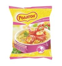 Лапша быстрого приготовления Роллтон На домашнем бульоне сыр/бекон 60г
