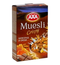 Мюсли Аха шоколад-орехи 250г