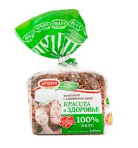 Хлеб Арнаут Зерновой красота и здоровье с семенами льна, 290г