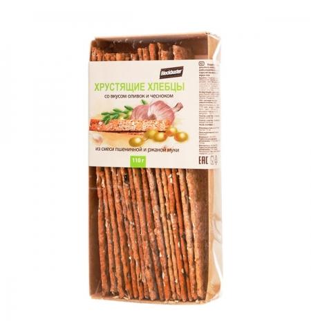 фото: Хлебцы Blockbuster со вкусом оливок и чесноком 110г
