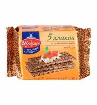 Хлебцы Щедрые 5 злаков 200г, с семенами льна