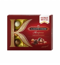 Конфеты Коркунов ассорти в темном и молочном шоколаде 110г