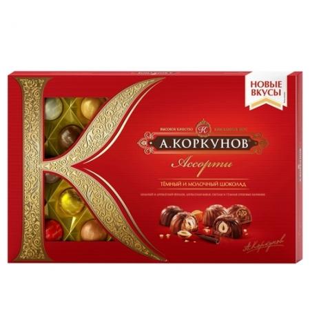 фото: Конфеты Коркунов ассорти в темном и молочном шоколаде 256г