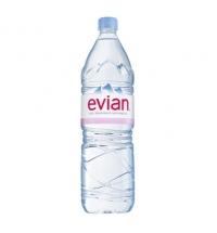 Evian вода 1.5 л, негазированная, ПЭТ