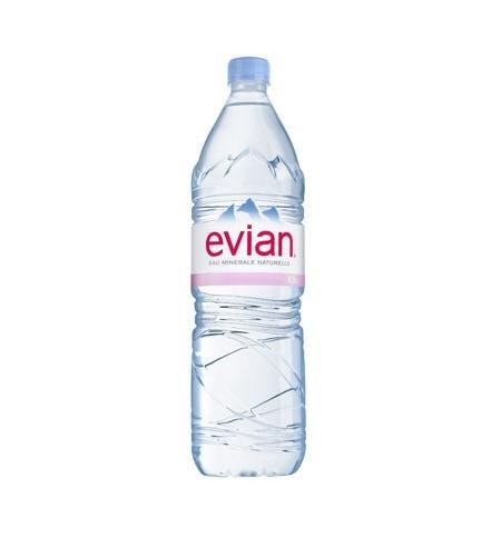 фото: Evian вода 1.5 л, негазированная, ПЭТ