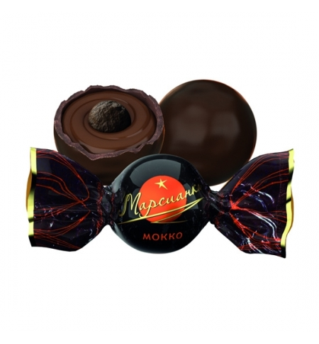 фото: Конфеты фасованные Сладкий Орешек Марсианка мокко 200г., пакет