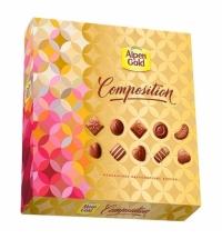 Конфеты Alpen Gold Composition ассорти 10 вкусов 180г