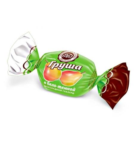 фото: Конфеты фасованные Микаелло Груша в бело-темной шоколадной глазури 3кг