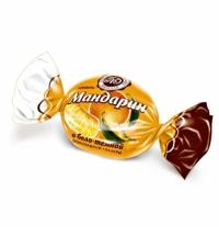 Конфеты фасованные Микаелло Мандарин в бело-темной шоколадной глазури 3кг