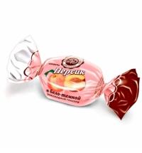 Конфеты фасованные Микаелло Персик в бело-темной шоколадной глазури 3кг