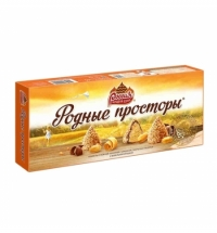 Конфеты фасованные Родные Просторы арахис-вафельная крошка 120г