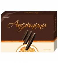 Мармелад Ударница в шоколаде апельсиновые палочки, 160г