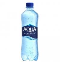 Вода Аква Минерале 0.6 л газированная, ПЭТ