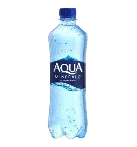 фото: Вода Аква Минерале 0.6 л газированная, ПЭТ