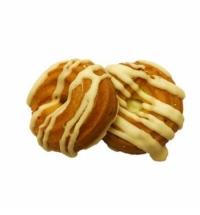 Печенье Мини-пончики заварные в белой глазури 2.5кг