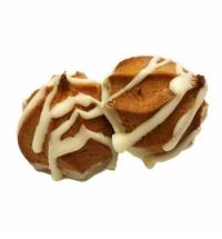 Печенье Пышки заварные в белой глазури 2.5кг